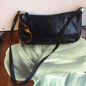 MONSAC BLACK LEATHER BAG